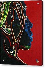Womans Essence  Acrylic Print by  Fli Art