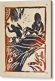 Women I A La Gauguin Acrylic Print by Christiane Schulze Art And Photography