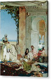Women Of A Harem In Morocco Acrylic Print by Jean Joseph Benjamin Constant