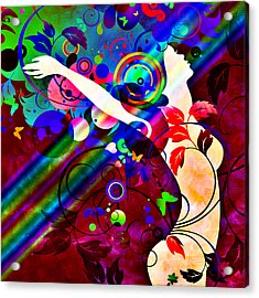 Wondrous At The End Of The Rainbow Acrylic Print by Angelina Vick