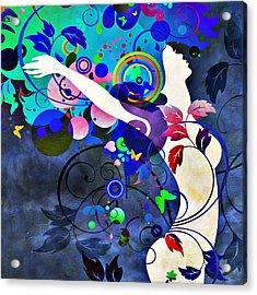 Wondrous Night Acrylic Print by Angelina Vick