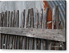 Wood And Rust Acrylic Print by Kelly Jones