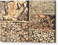 Wood And Straw Acrylic Print by Tom Gowanlock