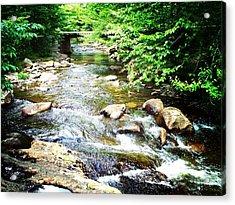 Wooden Bridge Acrylic Print by Joy Nichols