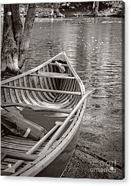 Wooden Canoe Acrylic Print by Edward Fielding
