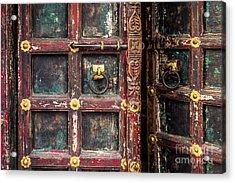 Wooden Door Acrylic Print by Catherine Arnas