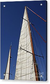 Wooden Masts And Sails Acrylic Print by Sami Sarkis