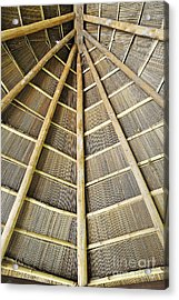 Wooden Roof Acrylic Print by Sami Sarkis