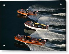 Wooden Runabouts On Lake Tahoe Acrylic Print by Steven Lapkin