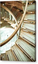 Wooden Staircase Acrylic Print by Tom Gowanlock
