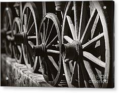 Wooden  Wagon Wheels Acrylic Print by Martin Dzurjanik