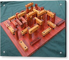 Woodhenge Acrylic Print by Dave Martsolf
