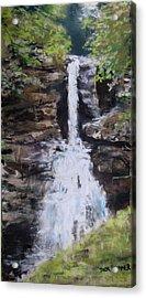 Woodland Waterfall Acrylic Print by Jack Skinner