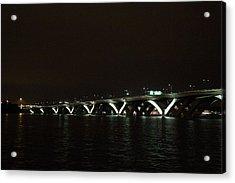 Woodrow Wilson Bridge - Washington Dc - 011339 Acrylic Print by DC Photographer
