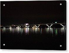 Woodrow Wilson Bridge - Washington Dc - 011344 Acrylic Print by DC Photographer