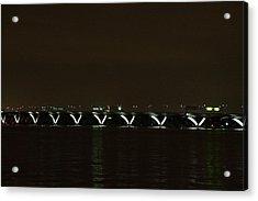 Woodrow Wilson Bridge - Washington Dc - 01138 Acrylic Print by DC Photographer