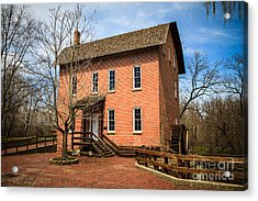Wood's Grist Mill In Deep River County Park Acrylic Print by Paul Velgos