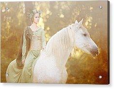Woods Of Narnia Acrylic Print by Pamela Hagedoorn