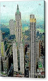 Woolworth Building New York City 20130427 Acrylic Print by Wingsdomain Art and Photography
