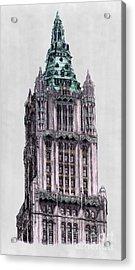 Woolworth Building New York City Acrylic Print by Gerald Blaikie