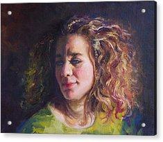 Work In Progress - Self Portrait Acrylic Print by Talya Johnson