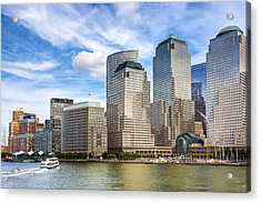World Financial Center And The Manhattan Waterfront Acrylic Print by Mark E Tisdale