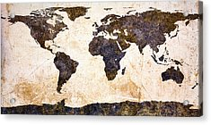 World Map Abstract Acrylic Print by Bob Orsillo