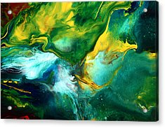 World Of Chaos Translucent Abstract Acrylic Print by Serg Wiaderny