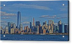 World Trade Center Painting Acrylic Print by Dan Sproul