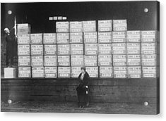 World War I Cigarette Shipment Acrylic Print by Library Of Congress