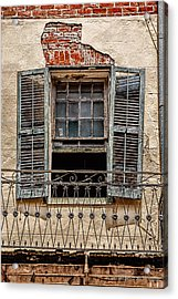 Worn Window Acrylic Print by Christopher Holmes