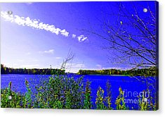 Worster Lake Autumn 2011 Acrylic Print by Tina M Wenger