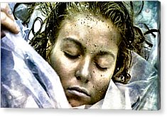 Wrapped In Plastic Acrylic Print by Luis Ludzska