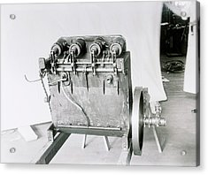 Wright Flyer Aircraft Engine Acrylic Print by Library Of Congress