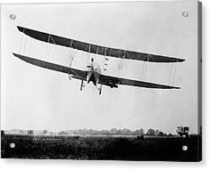 Wright Model H Airplane Acrylic Print by Library Of Congress