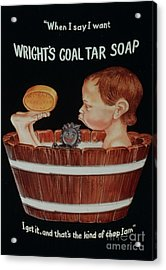 Wright�s Coal Tar 1920s Uk Baths Acrylic Print by The Advertising Archives