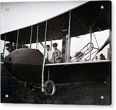 Wrights In Model Hs Airplane Acrylic Print by Library Of Congress