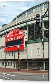Wrigley Field Acrylic Print by Skip Willits