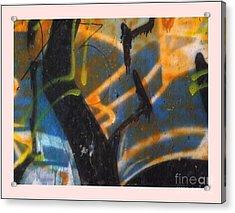 Writing On The Wall 2 Acrylic Print by Sara  Raber