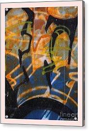 Writing On The Wall 3 Acrylic Print by Sara  Raber