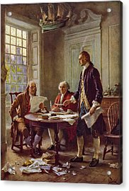 Writing The Declaration Of Independence 1776 Acrylic Print by DC Photographer
