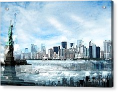Wrong Expectations New York City Usa Acrylic Print by Sabine Jacobs