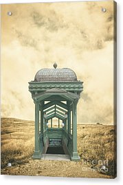 Wrong Train Right Station Acrylic Print by Edward Fielding
