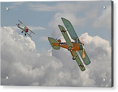 Ww1 - Fighting Colours Acrylic Print by Pat Speirs