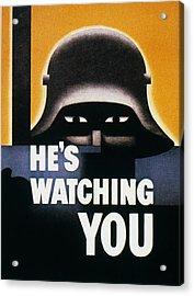 Wwii: Propaganda Poster Acrylic Print by Granger