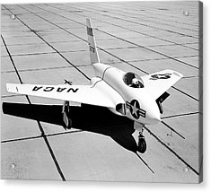 X-4 Bantam Experimental Aircraft Acrylic Print by Nasa Photo / Naca/nasa