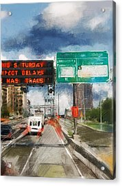 Xpect Delays Acrylic Print by Russell Pierce