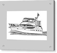 Yachting Good Times Acrylic Print by Jack Pumphrey