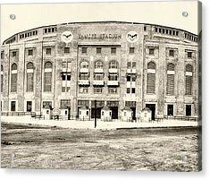 Yankee Stadium Acrylic Print by Bill Cannon
