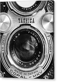 Yashica 635 - Front Detail Acrylic Print by Jon Woodhams